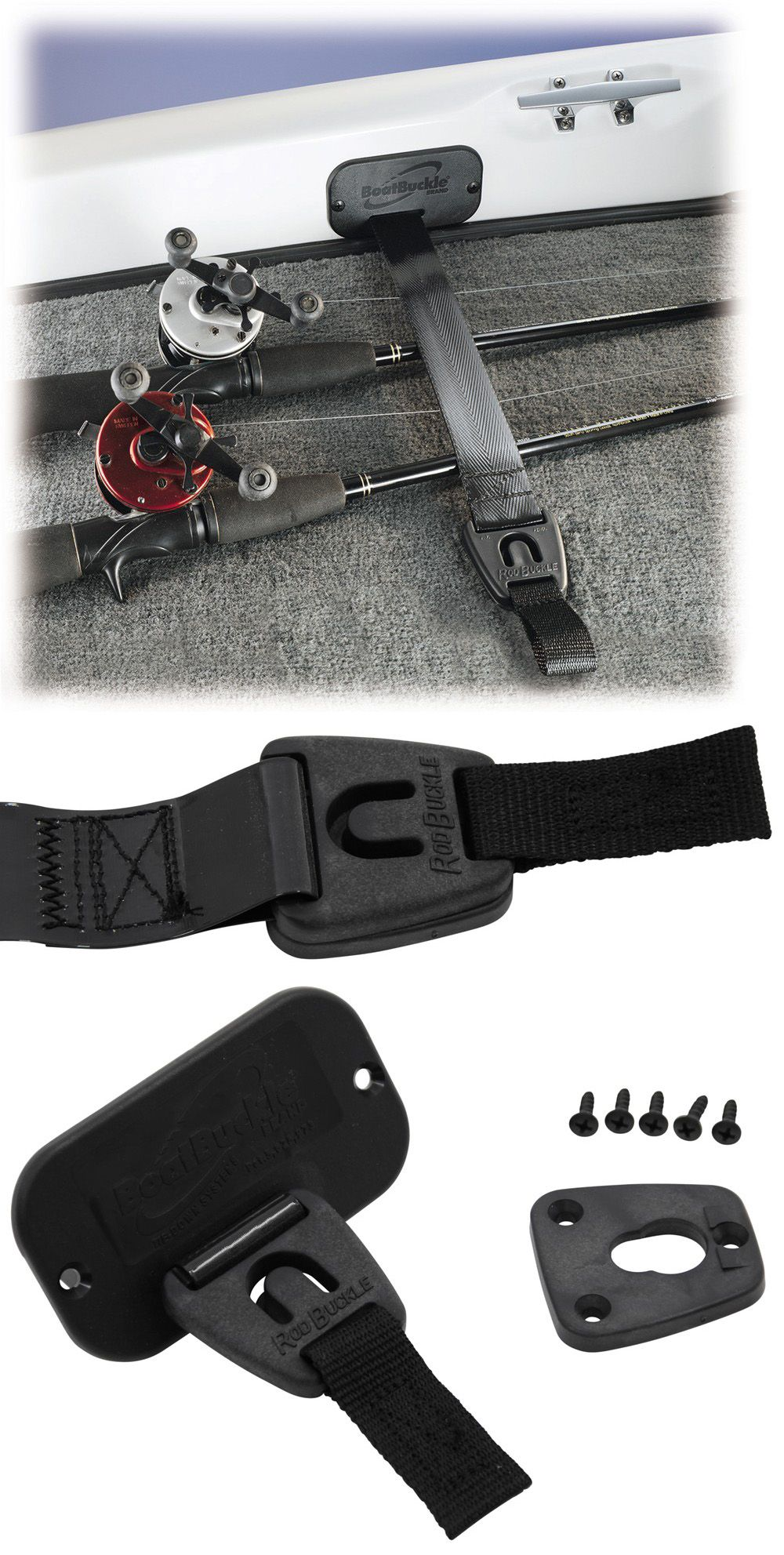 Rodbuckle Retractable Fishing Rod Tie Down Strap 2 X 24 Deck Gunwale Mount Boatbuckle Fishing Fishing Rod Fishing Rod Holder Tie Down Strap
