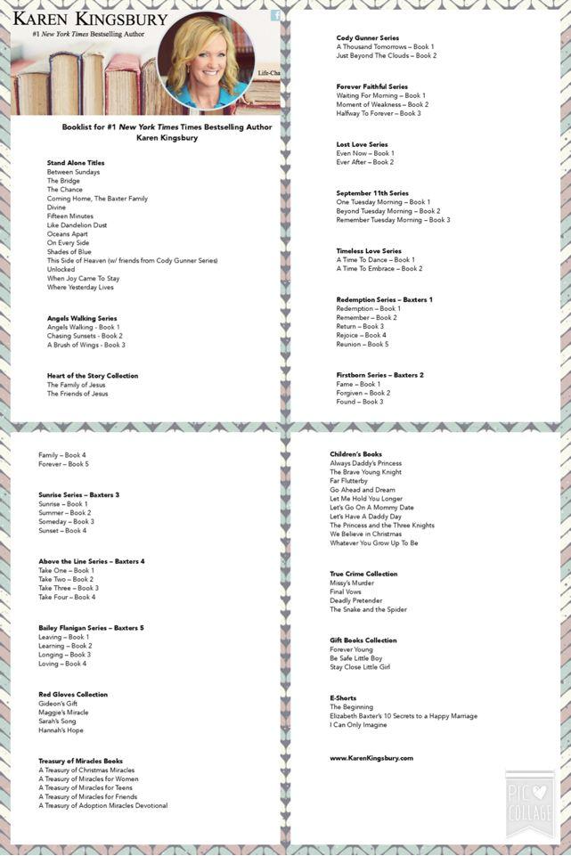 Karen Kingsburys Updated Book List 2016 Authorkingsbury
