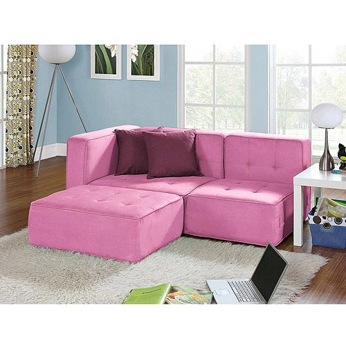 Your Zone Loft Collection Sectional -- Perfect for a little girl\'s ...