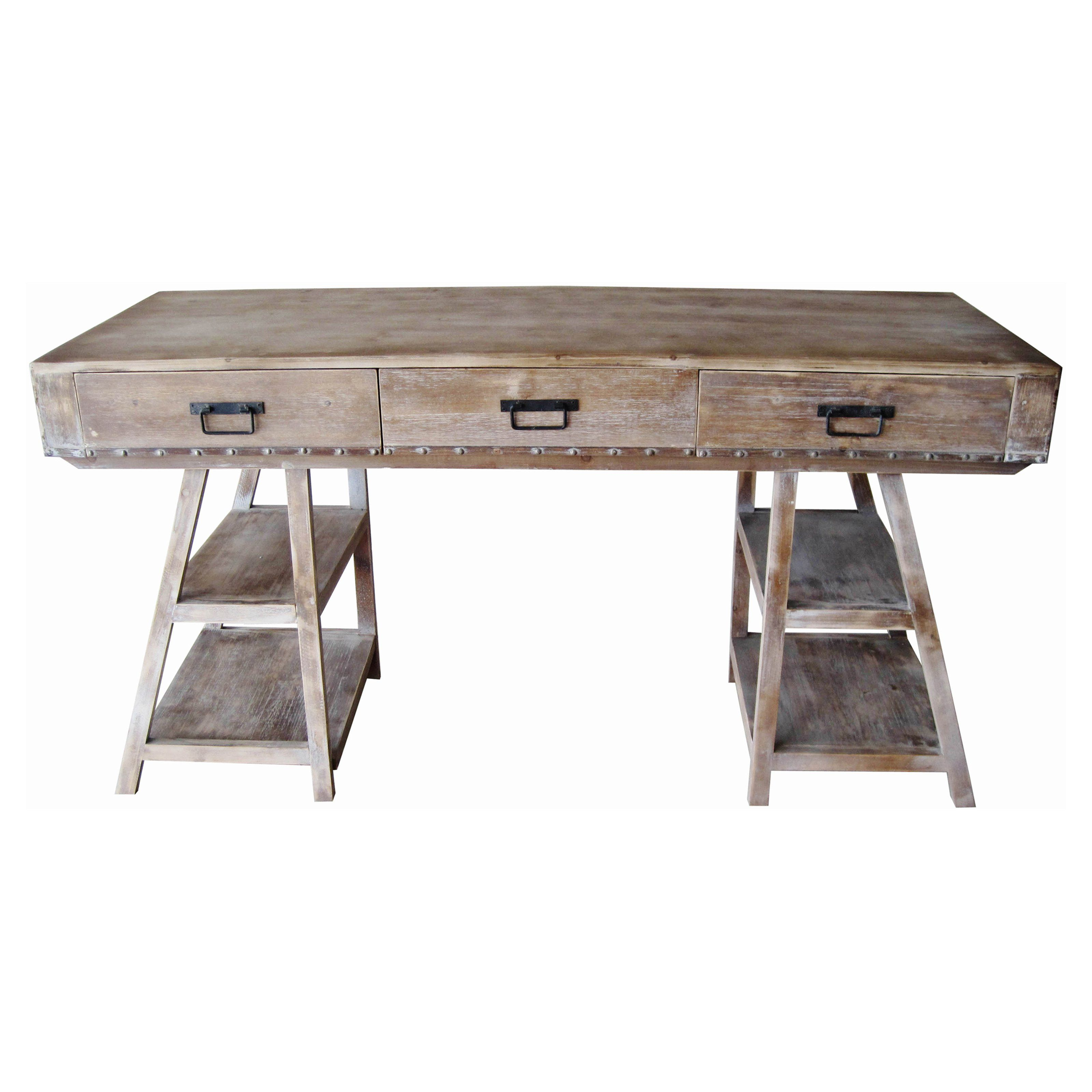Crestview Collection Jackson A Frame Rustic Desk - Add the beauty of rustic…