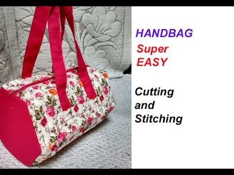 73de08103cdc handbag  shopping bag   lunch bag  cutting and stitching in hindi  make up  bag  shoulder bag - YouTube