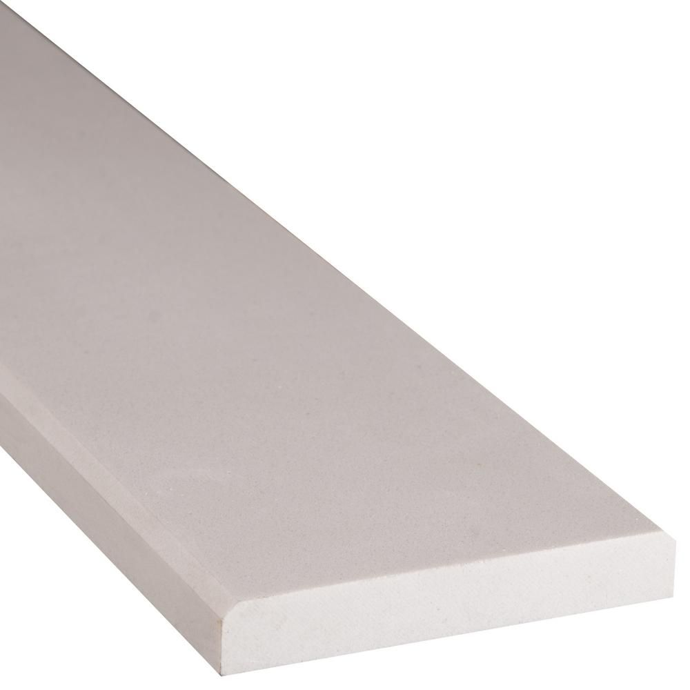 Ms International White Double Bevelled 2 In X 36 In Engineered Marble Threshold Floor And Wall Tile Marble Wall Tiles Marble Threshold Wall Tiles