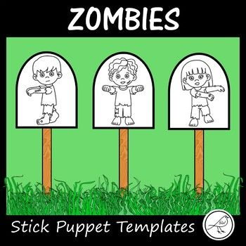 10 zombie boys/girls to make stick puppets. (5 boys and 5 girls). Provided in colour and black/white. Also included is a blank template to make additional characters/props. 2 formats for your printing convenience: ♦ 10 small zombie templates on one page (one of each character). ♦ 4 large zombie templates on one page (four