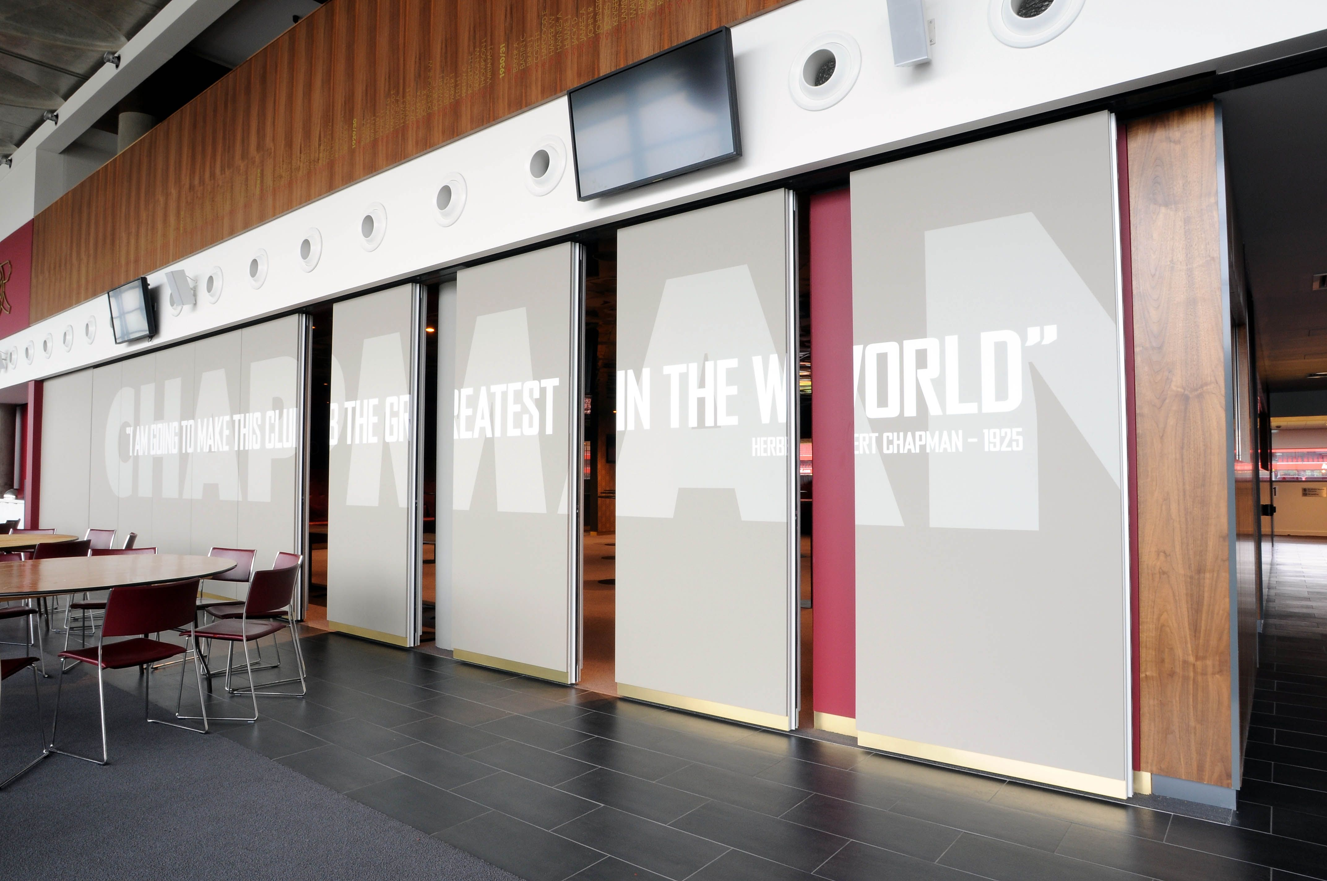 Movable wall panels can offer flexible segmentation of for Movable partition wall systems