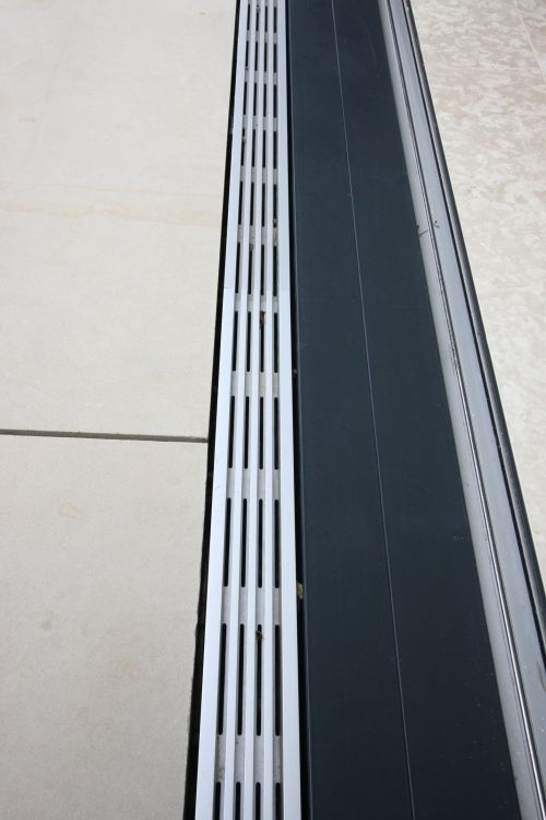 Iq Glass Flush Threshold Hidden Drainage System Exterior