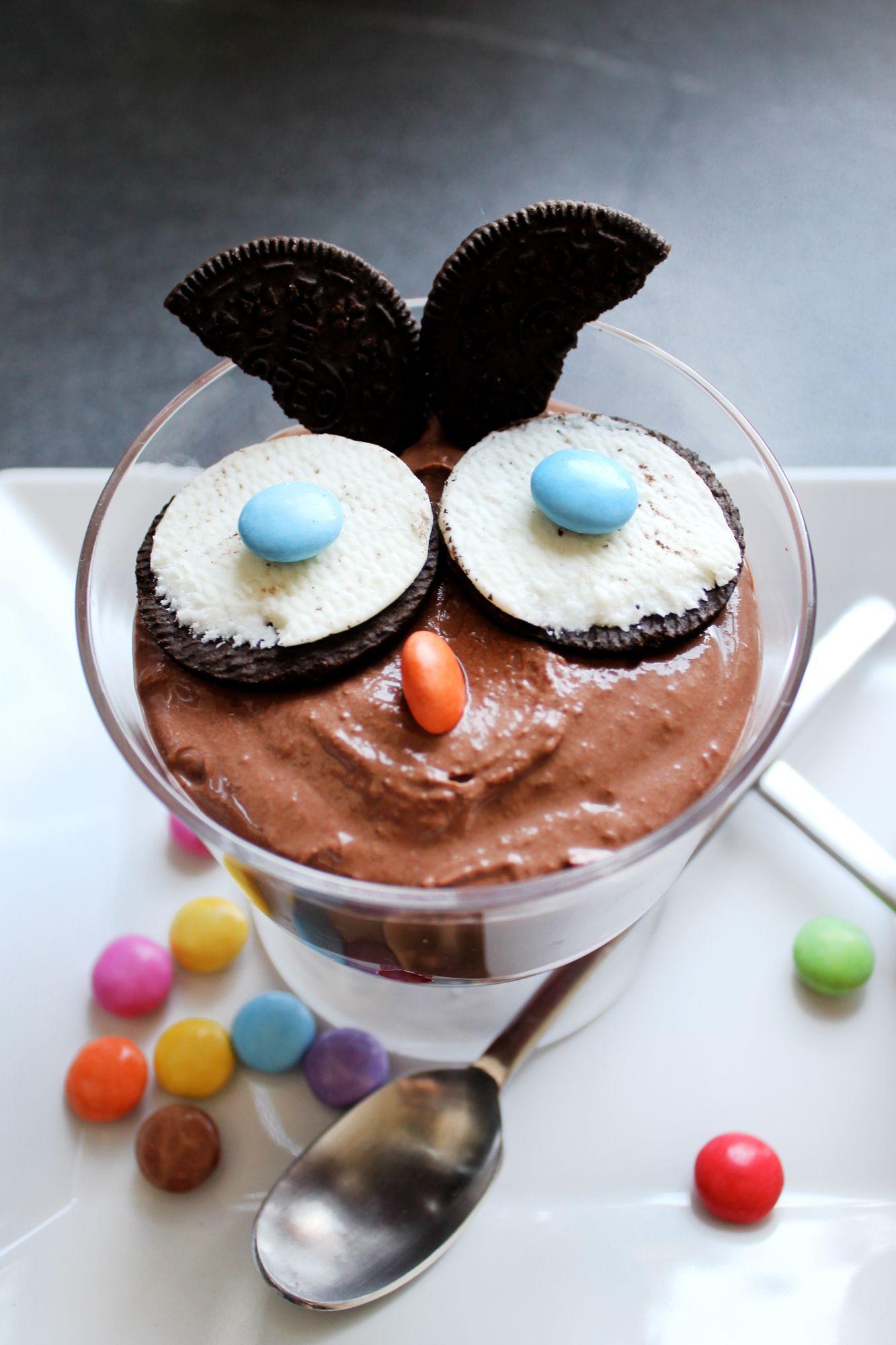 Schokoladen Himbeer Quark Eulen