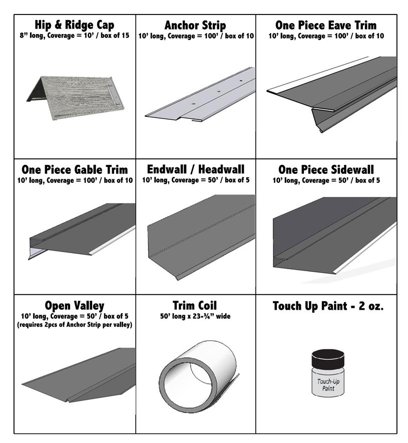 Trim Profiles Shake Shingle Metal Roof Gable Trim