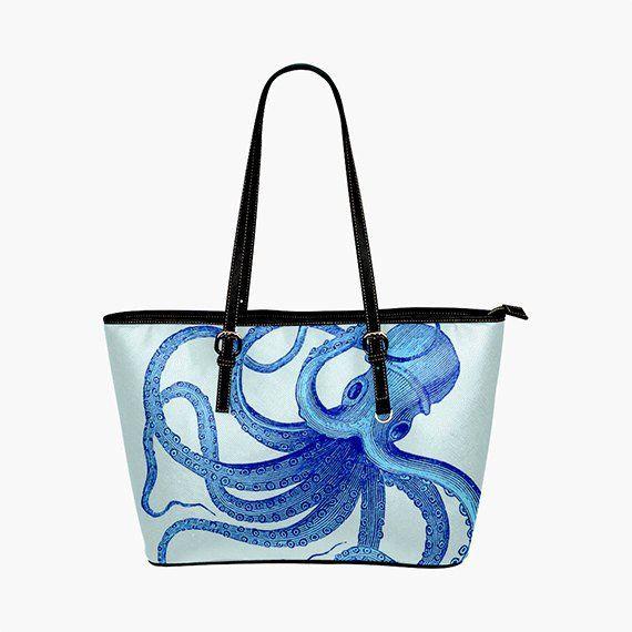 f8ab227ed21 Blue Octopus Purse - Octopus Handbag - Kraken Purse, nautical ...