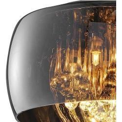 Photo of Trio pendant light with crystal curtain, 40 cm length Vapore 5x 42 Watt, 40.00 cm 311210506 TrioTr