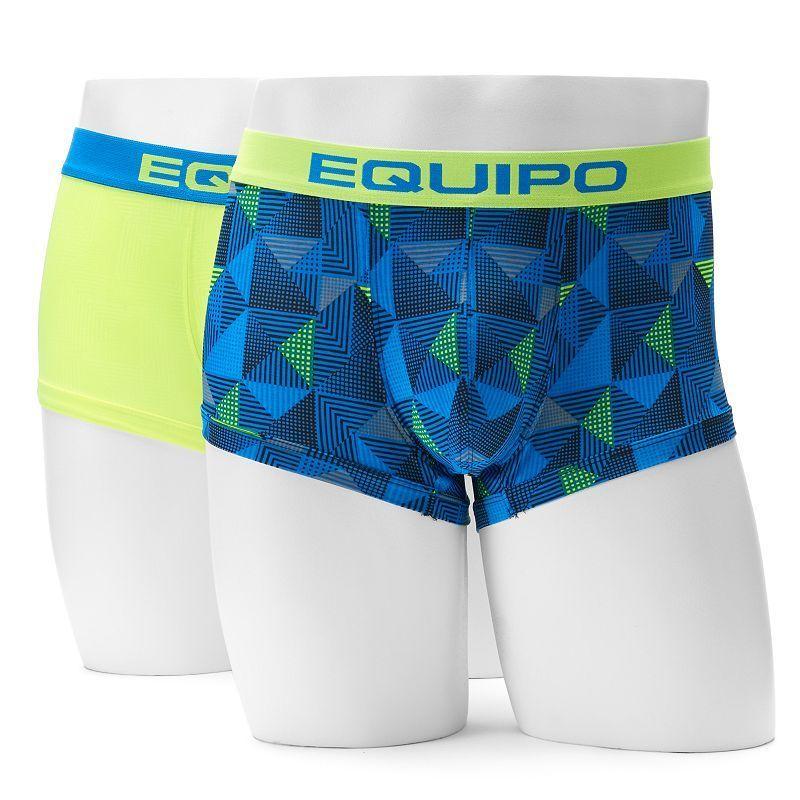 5b5f4b34e47f Men's equipo 2-pack Patterned Microfiber Brazilian Trunks, Size: Medium,  Blue