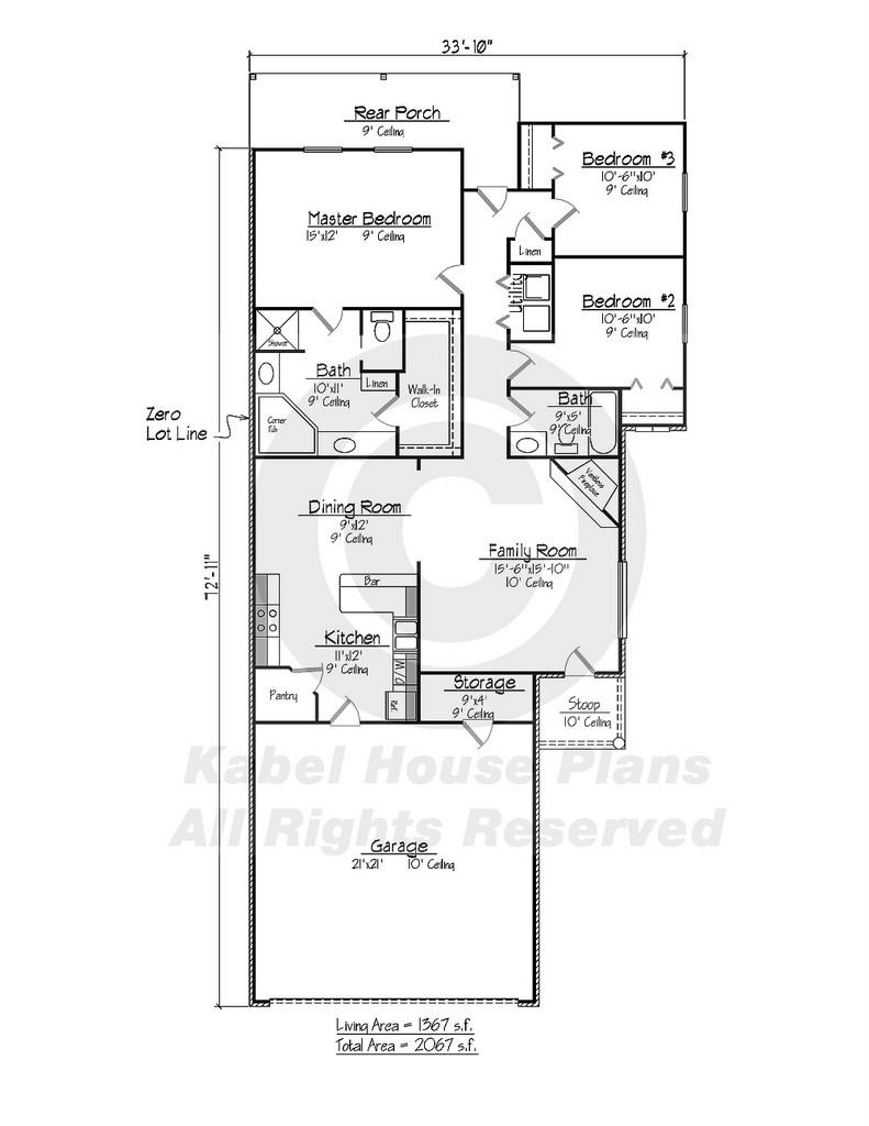 Zero Lot House Plans 2020 House Plans How To Plan House