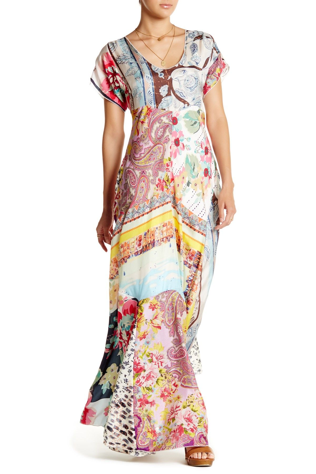 Printed Silk Maxi Dress By Johnny Was On Hautelook The Look