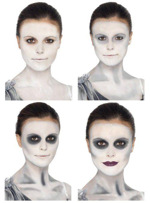Good ghost makeup example halloween Pinterest Ghost makeup - easy makeup halloween ideas