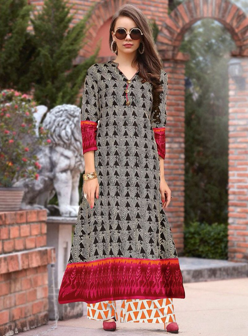 11e3bf95925 Shop Gray Cotton Readymade Tunic 148982 online at best price from vast  collection of designer kurti at Indianclothstore.com.
