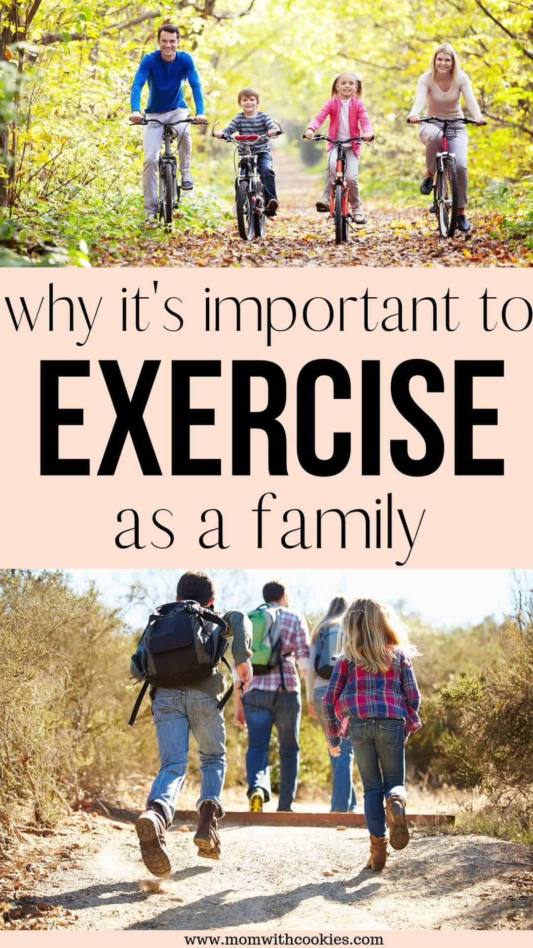 Learn why it is so important to stay active and exercise as a family. #family #familyexercise #stayingactive #exercise #familybonding