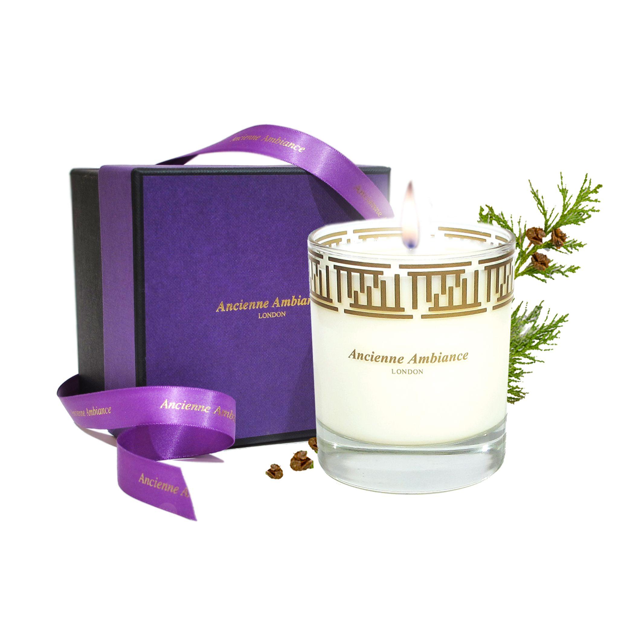Phoenicia Candle Cedar fragrance, uplifting & warm. Burn