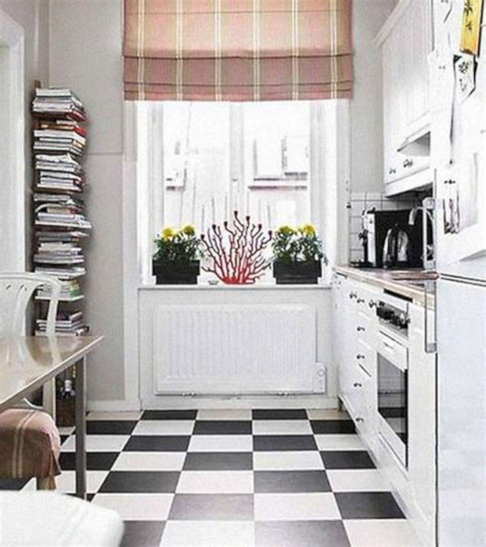 30 Most Popular Kitchen Design With Black White Flooring