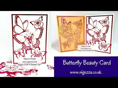 Butterfly Beauty Card Using Stampin Up Free Foil