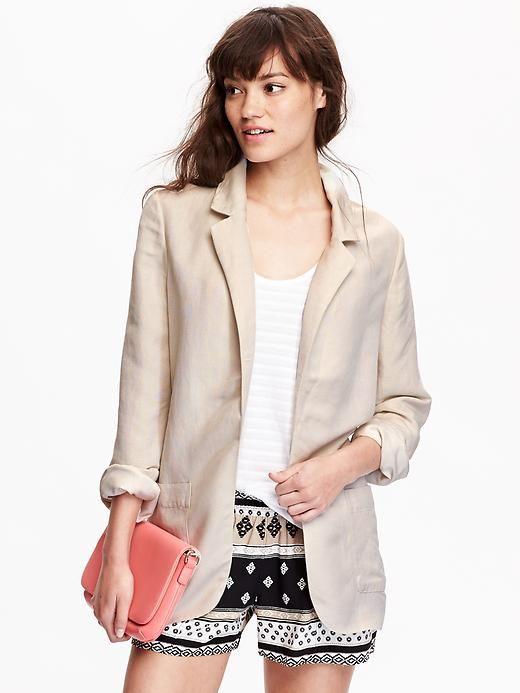 3ff33bf2a09 Women Old Navy Linen-Blend Blazers