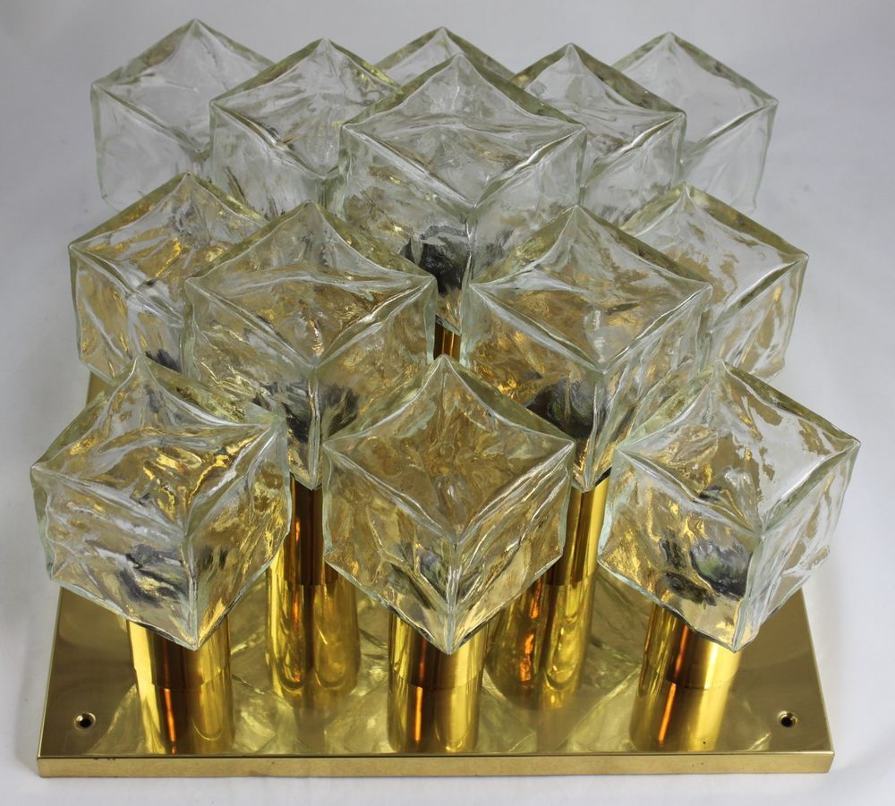 Details Zu Xxl Kalmar Ice Cube Lampe Deckenlampe Leuchte Vintage Eiswurfel 60er Mit Bildern Lampen Deckenlampe