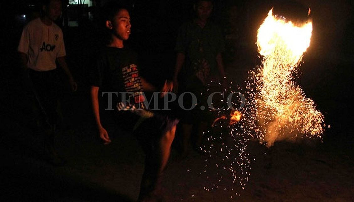 In Indonesia Football Is Played with a Ball of Fire Sepak
