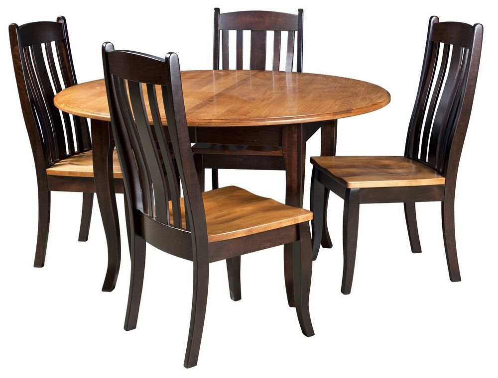 Amish Round Dining Table Chairs Set Solid Wood Leg 2 Tone Modern Country Black Dining Table Legs Round Dining Table Dining Table
