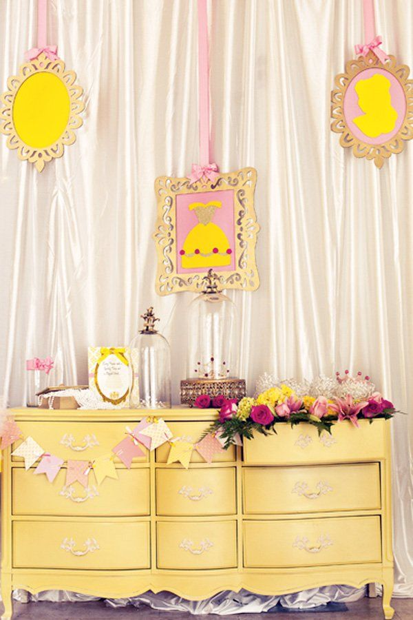 Belle Birthday Party Decorations Beauty And The Beast Theme Princess Party Part 2  Hostess
