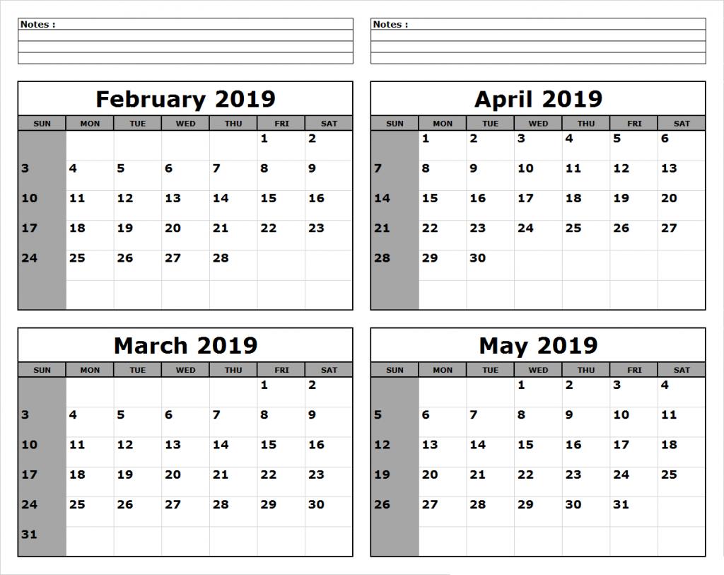 March April May 2019 Calendar Printable | June calendar ...