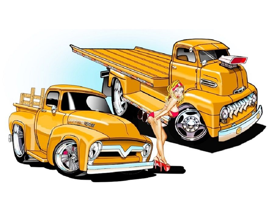 2017 Cartoon Hot Rods With Images Cool Car