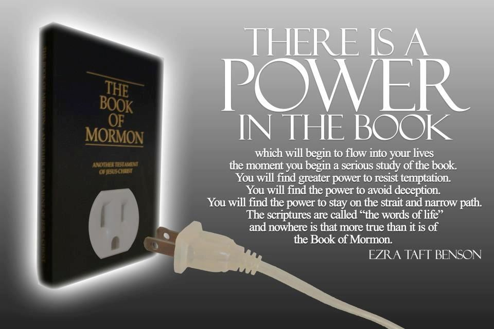 """""""We need to read daily from the pages of the book that will get a man nearer to God by abiding by its precepts, than by any other book."""" –Ezra Taft Benson http://mormon.org/free-book-of-mormon"""
