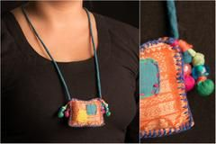 Buy Special Zari Necklace by Jugaad Online india l iTokri.com