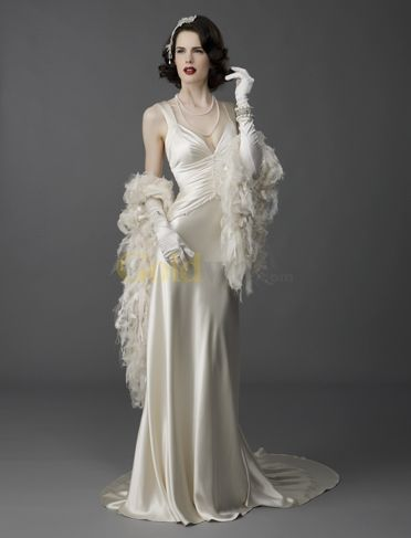 Old Hollywood Glamorous Inspired Wedding Dress