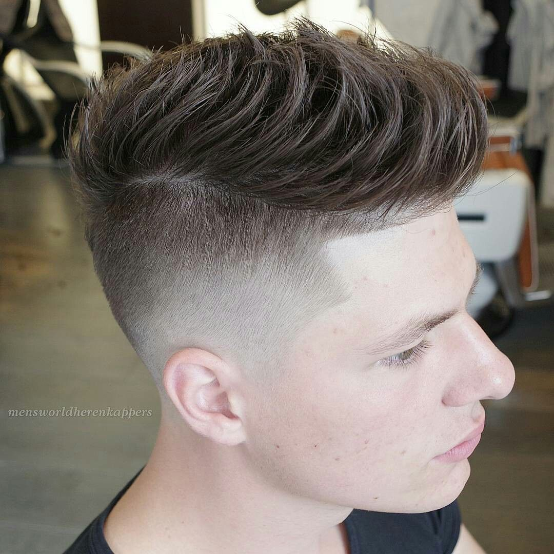 Short Pompadour Combed Forward
