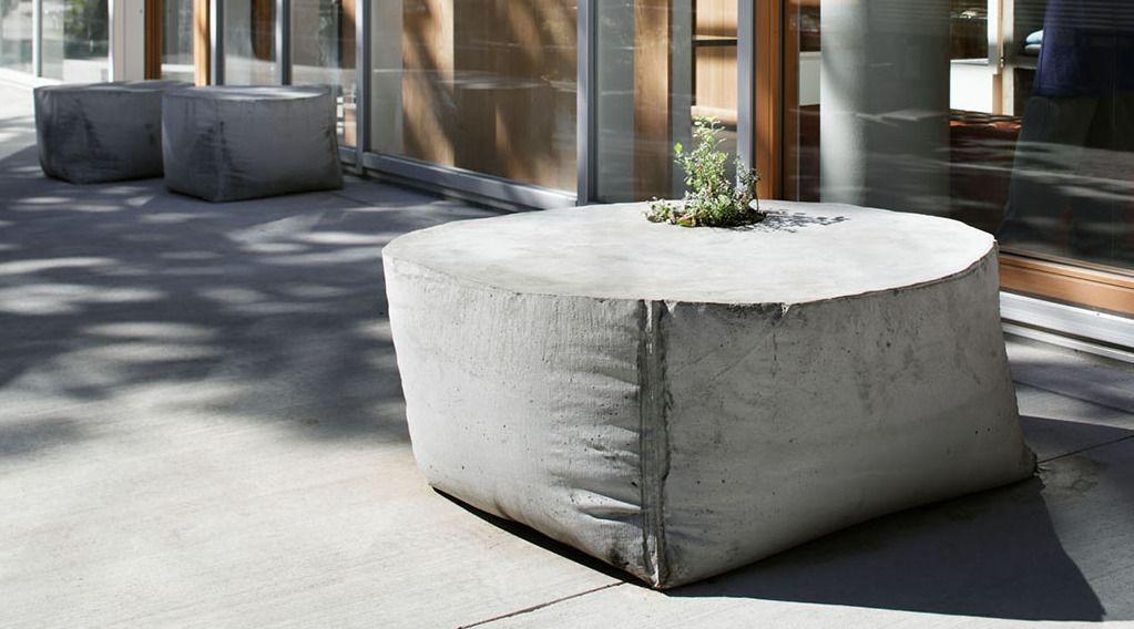 Coole Idee Für Beton Im Garten Mit Diy Gartenbank Und Blumentopf Aus