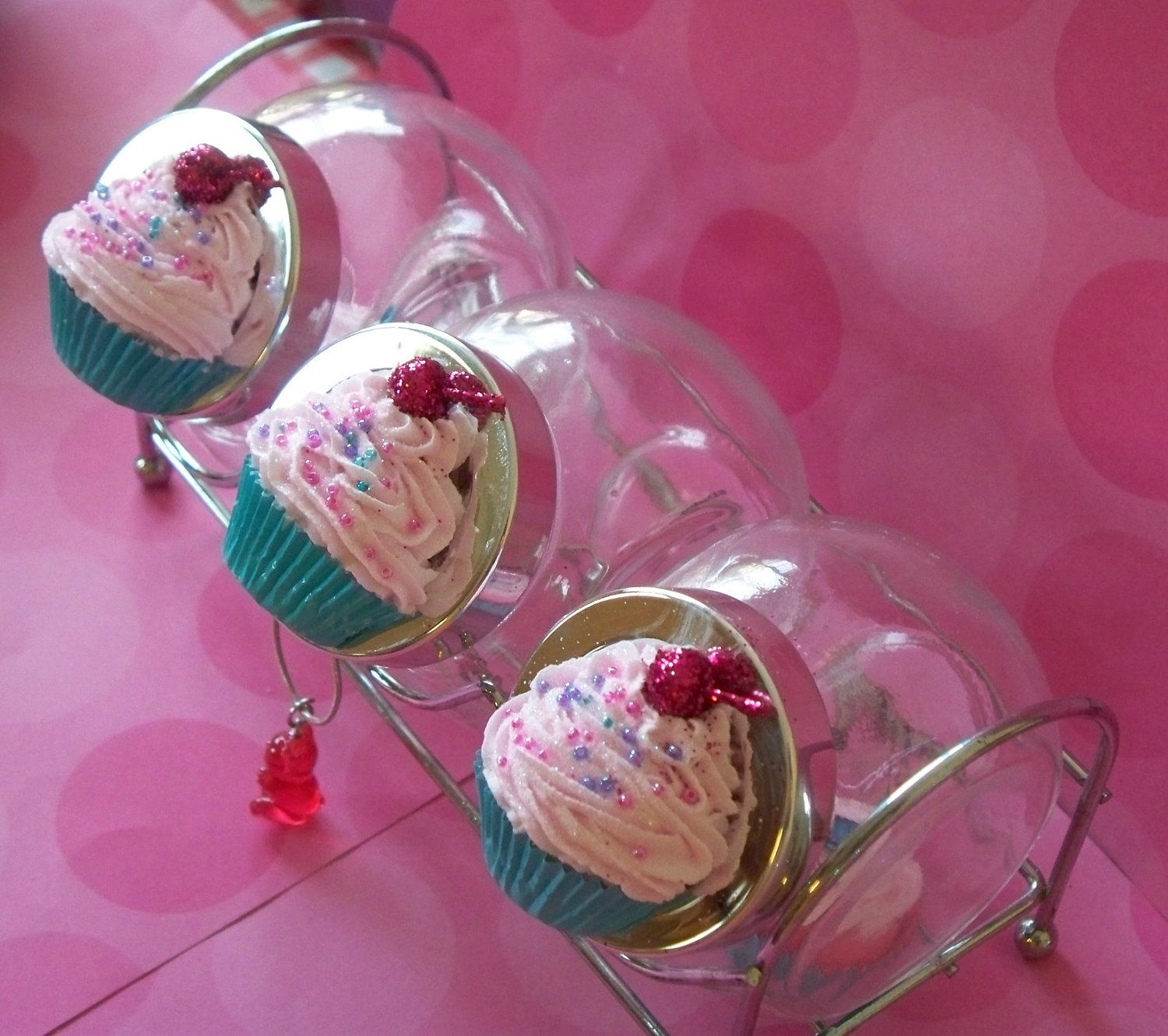 Cupcake Canisters For Kitchen: Set Of Cupcake MINI Canister Jar Jewelry Storage