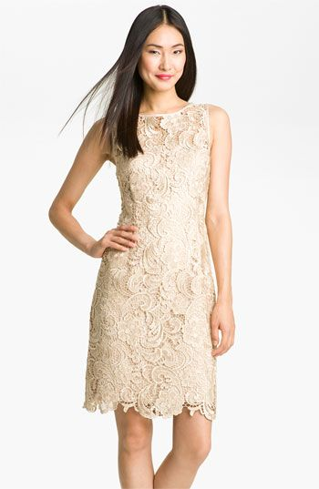 Illusion Bodice Lace Sheath Dress | Receptions, Lace sheath dress ...