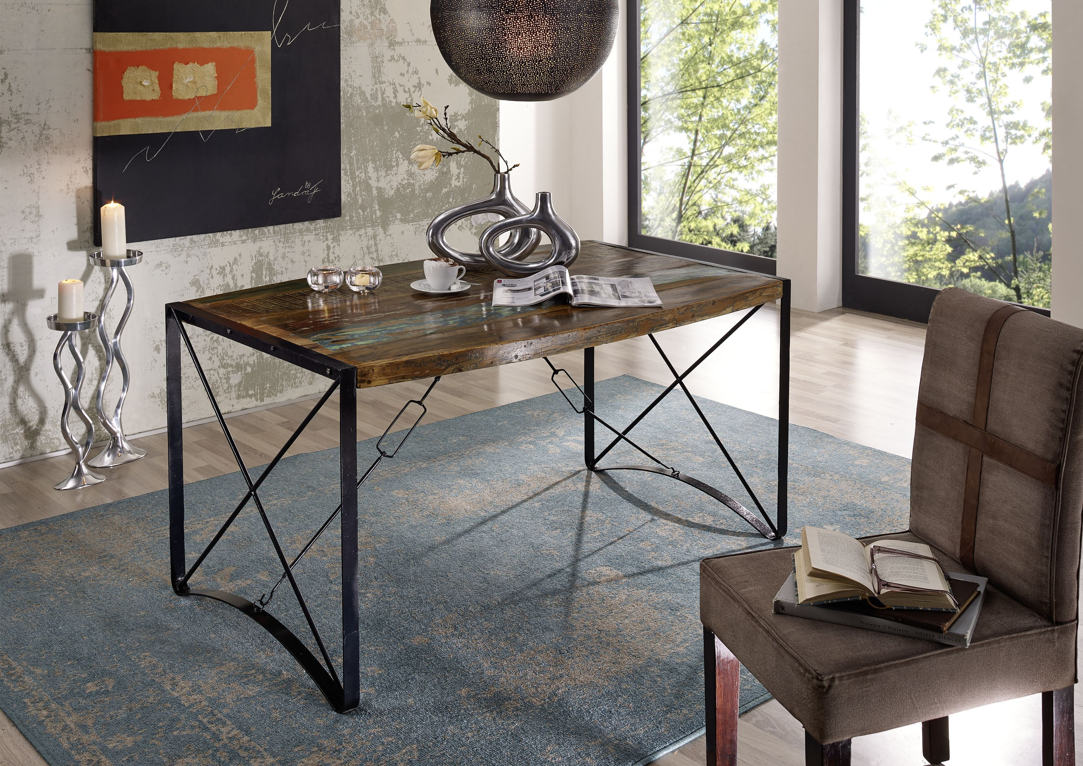 Möbel Altholz lackiert mehrfarbig INDUSTRIAL Massivholz | Pinterest ...