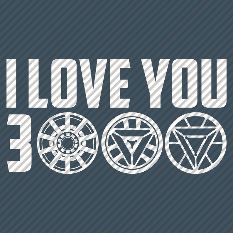 I Love You 3000 Svg Png Digital Download Marvel Avengers Svg Tony Stark Svg File For Cricut My Love Arc Reactor Iron Man Arc Reactor