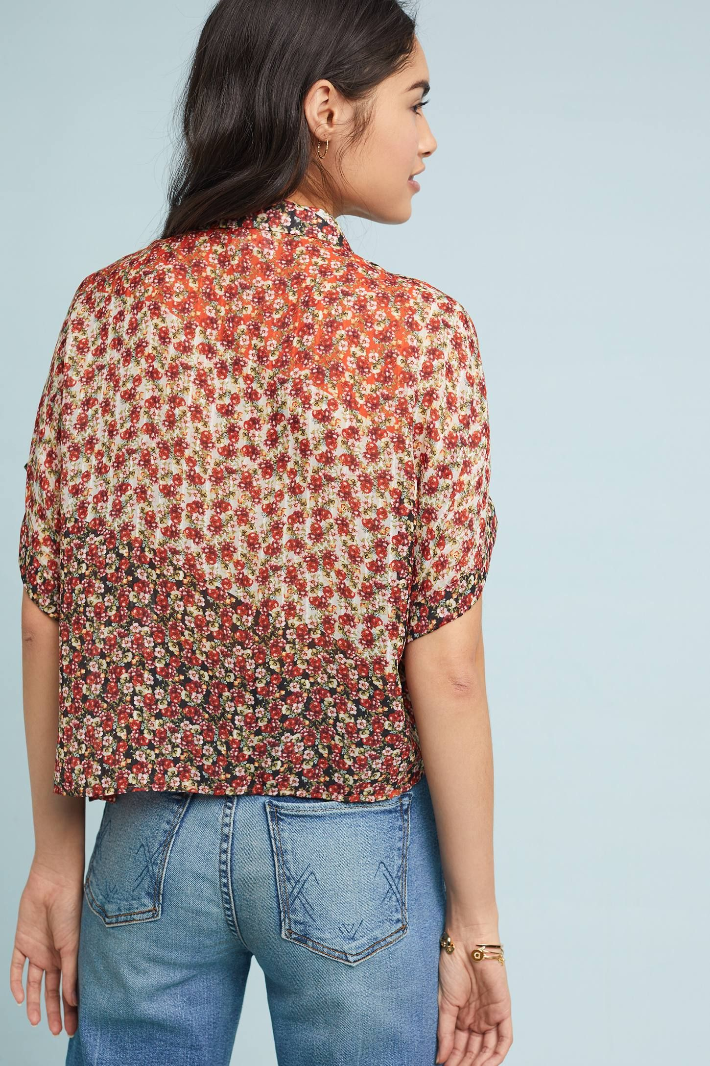 df71b31271181f Floral Melody Blouse | Anthropologie Floral Melody Blouse Feminine,  Silhouette, Men Casual, Blouse