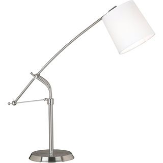 Design craft maddox 36 inch adjustable brushed steel finish table design craft maddox 36 inch adjustable brushed steel finish table lamp maddox 36 in adjustable brushed steeltable lamp white metal aloadofball Image collections