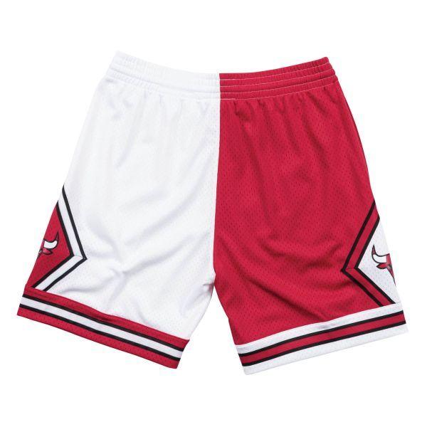 aee09953 Mitchell & Ness Split Home & Away Swingman 1997-98 Chicago Bulls Shorts