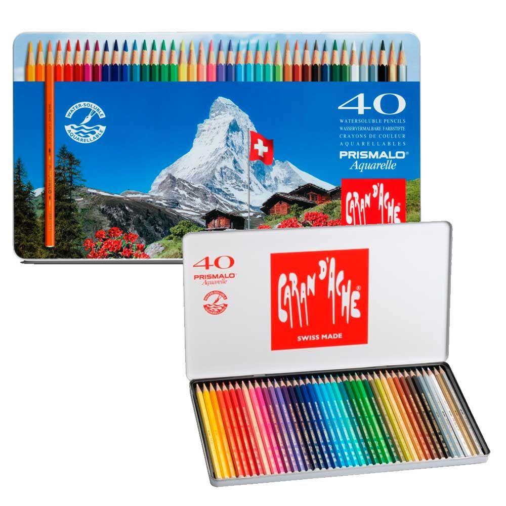 Colour Chart For Caran D Ache Prismalo Pencils Kleurkaarten