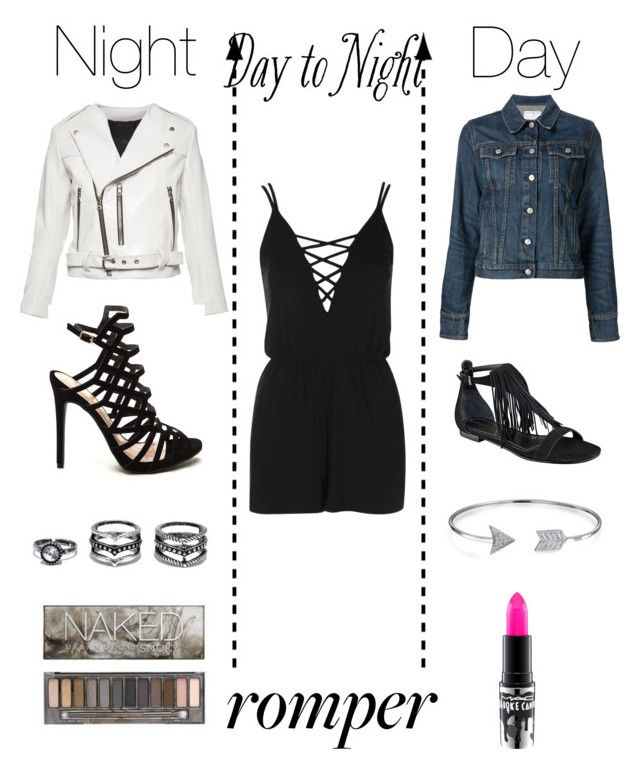 """""""Get the look """" by shadowcouture101 ❤ liked on Polyvore featuring Topshop, Marc Jacobs, Urban Decay, rag & bone/JEAN, Kendall + Kylie, MAC Cosmetics, LULUS, Bling Jewelry, DayToNight and romper"""