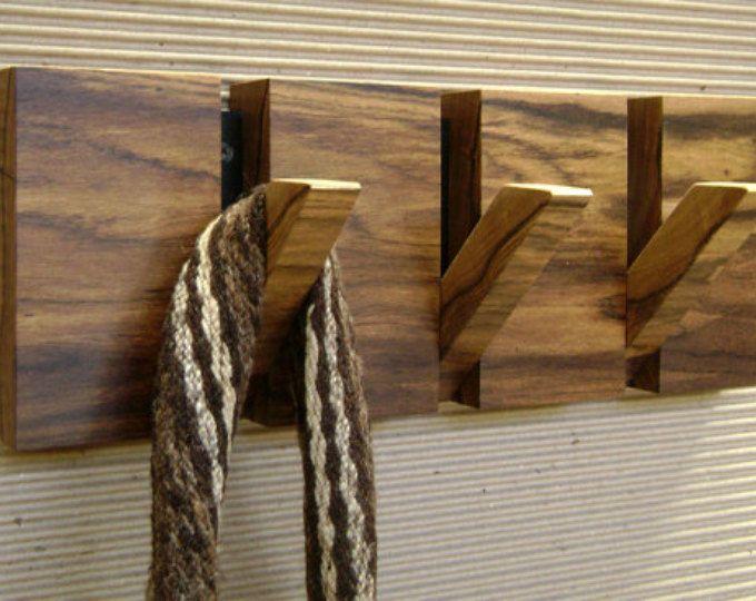 Wall Coat Hanger 4 Hooks Nogal Cafetero Wood Originally