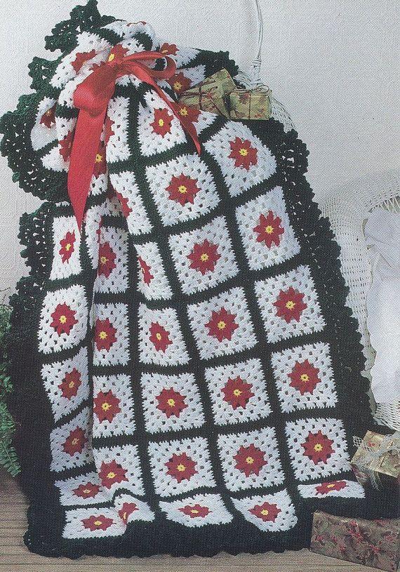 Christmas Afghan Crochet Patterns Wreath Motifs Crochet