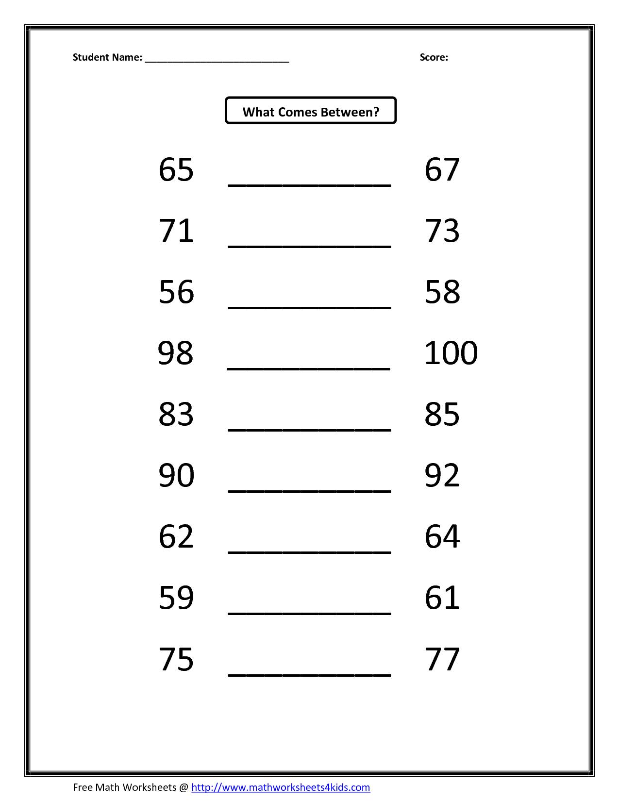 Kumon Math Worksheets Answers