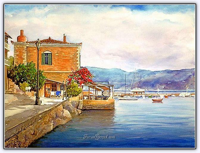 Pantelis D Zografos 1949 Suluboya Resimlerle Yunanistan