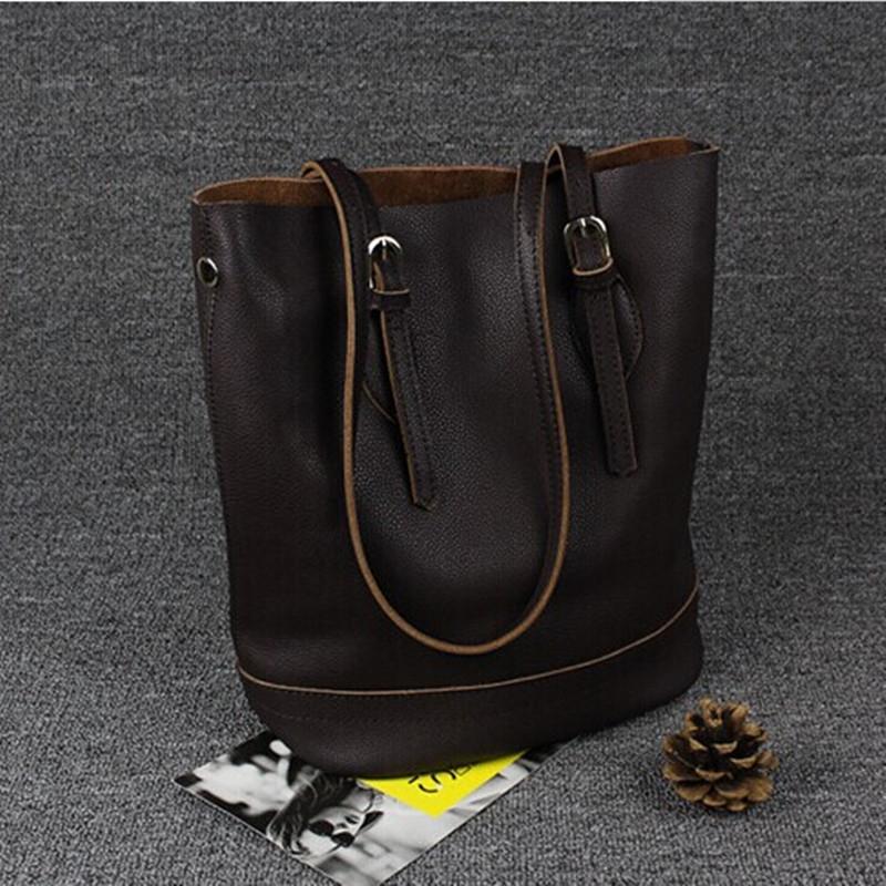 53.40$  Watch here - COOL WALKER Women Fashion 100% Genuine Leather A Women Single Shoulder Bag Bucket Bag Famous Designer Brand Bags Hand Bag Totes   #aliexpress