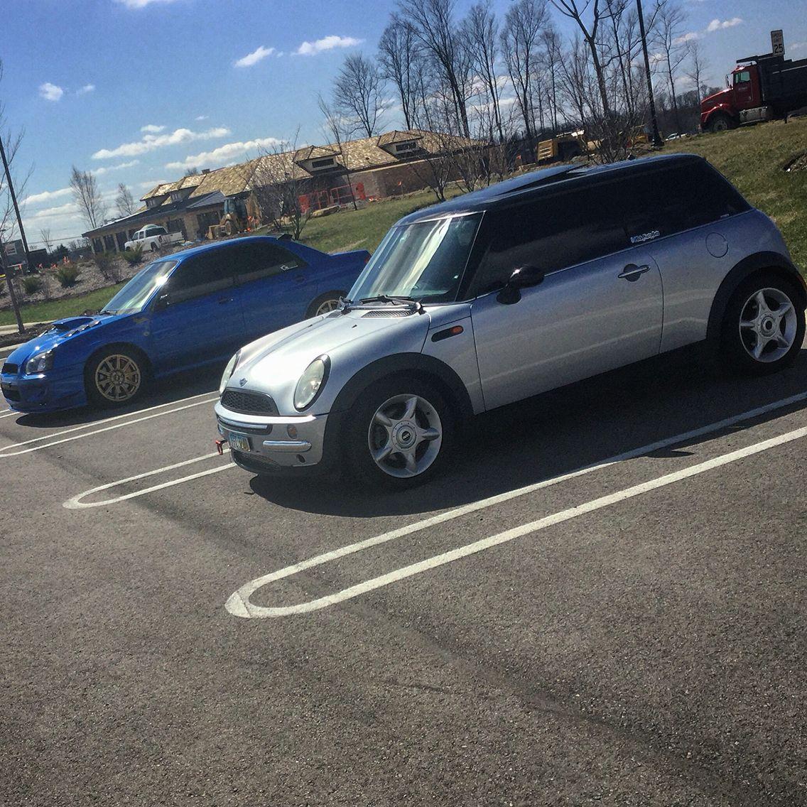 04 R50 Mini Cooper And A Subaru Wrx Sti Sitting Clean Mean