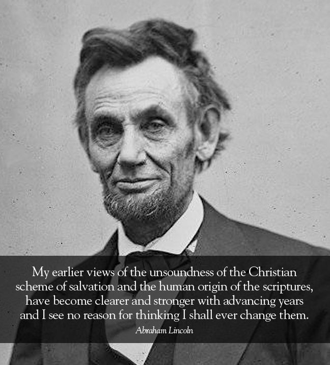Abraham Lincoln | Atheism | Pinterest